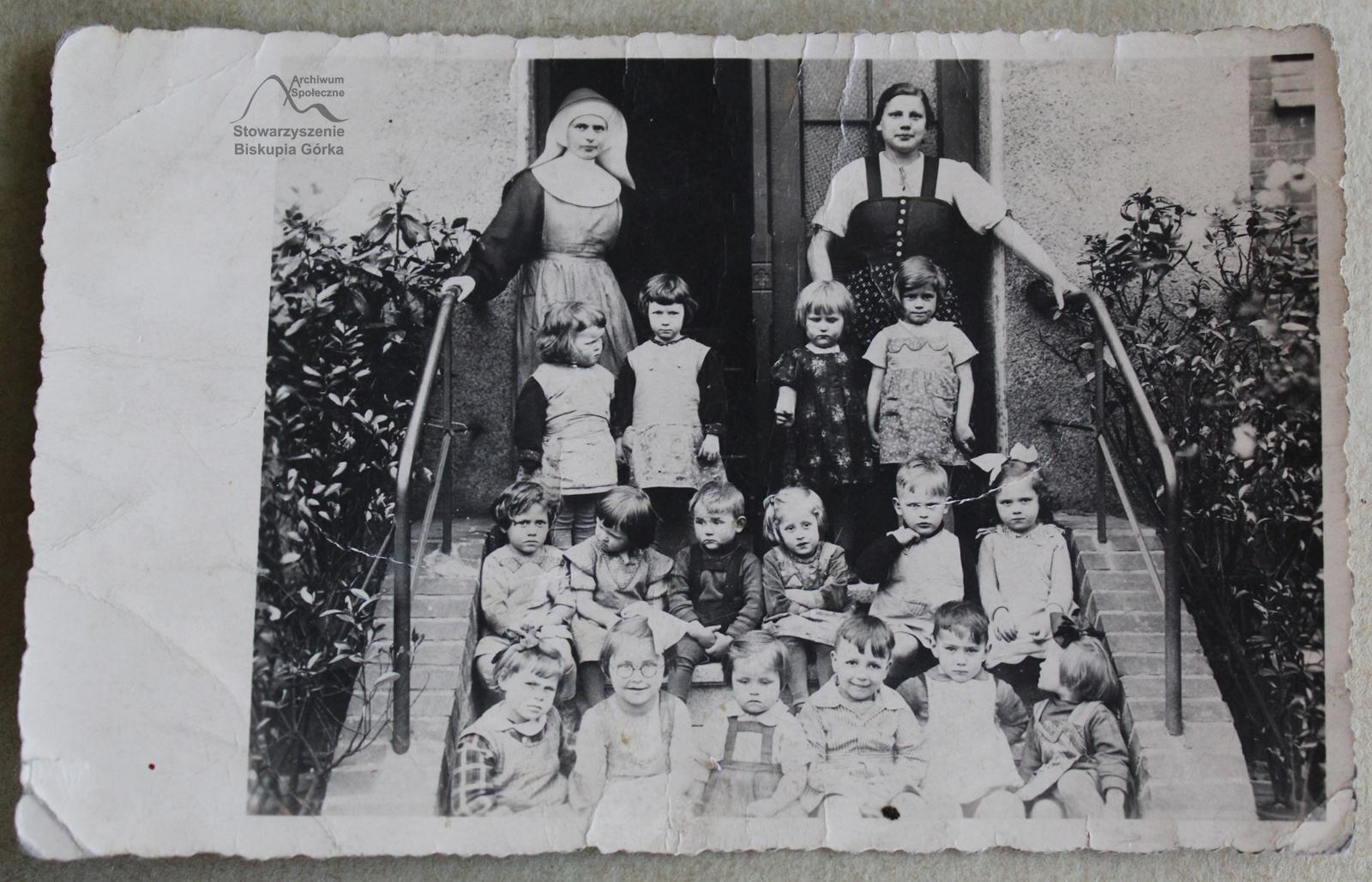 Przedszkole w Domu Zgromadzenia Sióstr św. Elżbiety na Targu Siennym, 1938 r.
