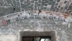Wnętrze Bastionu Ostroróg, obecnie strzelnica KWP. Tylko w tym bastonie zachowaly się oryginalne napisy.