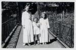 1956 r. , nieistniejący już mostek nad Kanałem Radunii